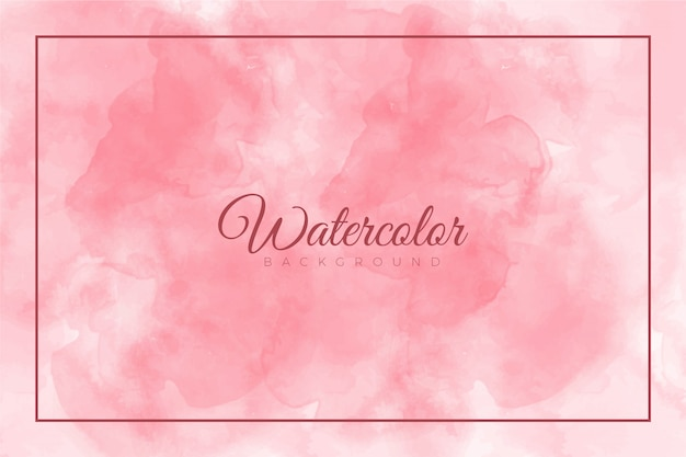 Pink abstract splash paint background with watercolor texture Premium Vector