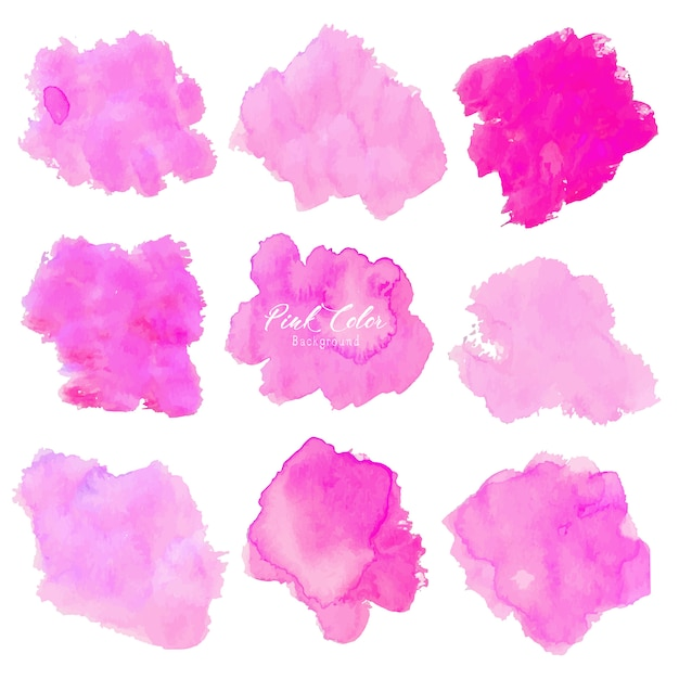 Pink abstract watercolor background. Premium Vector