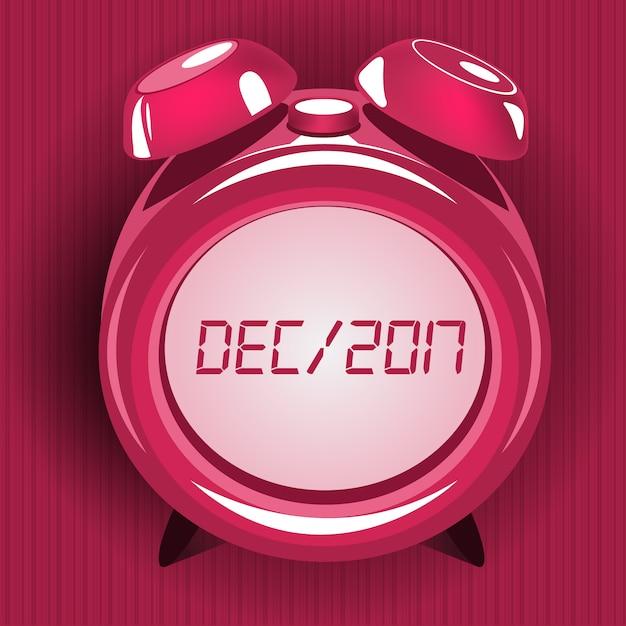 Pink alarm clock design Free Vector