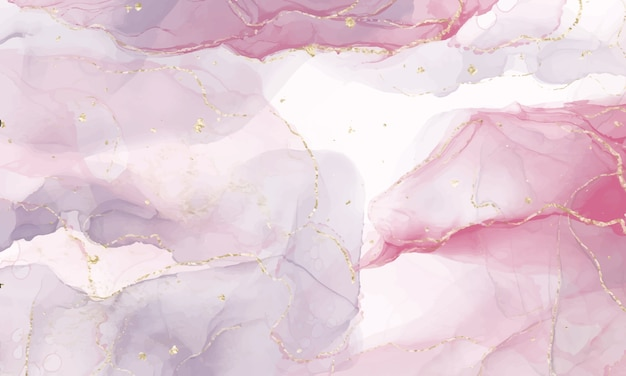 Pink alcohol ink background. abstract fluid art painting design. Free Vector