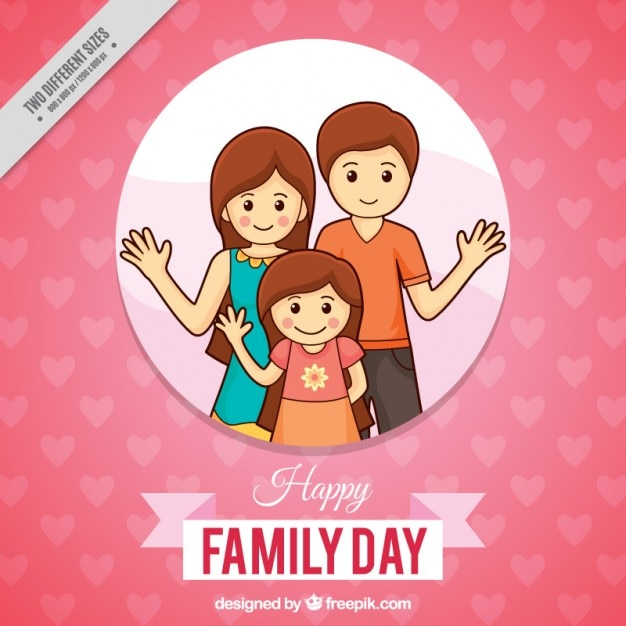 Pink and happy family day background