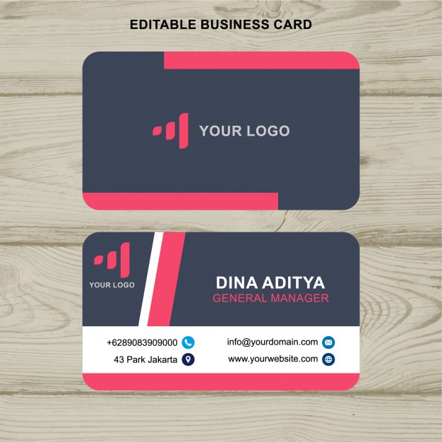 Pink and navy business card vector premium download pink and navy business card premium vector colourmoves