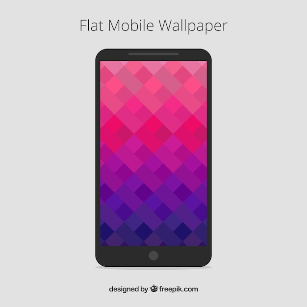 Pink And Purple Abstract Mobile Wallpapers In Flat Design Free Vector
