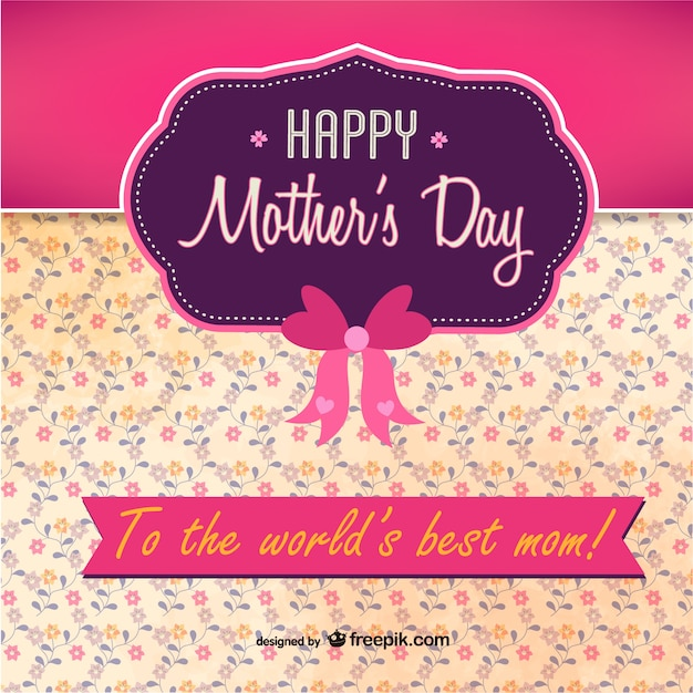 Pink and purple Mother\'s Day card