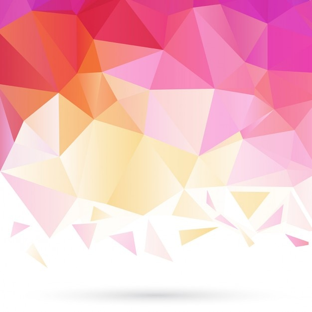 pink and yellow polygonal background vector free download