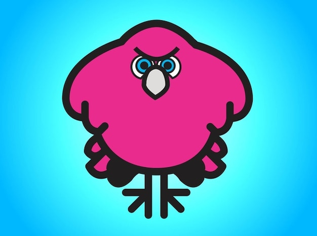 Pink angry bird illustration