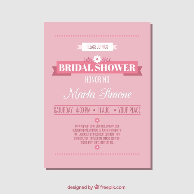 download vector bachelorette invitation with decorative cups