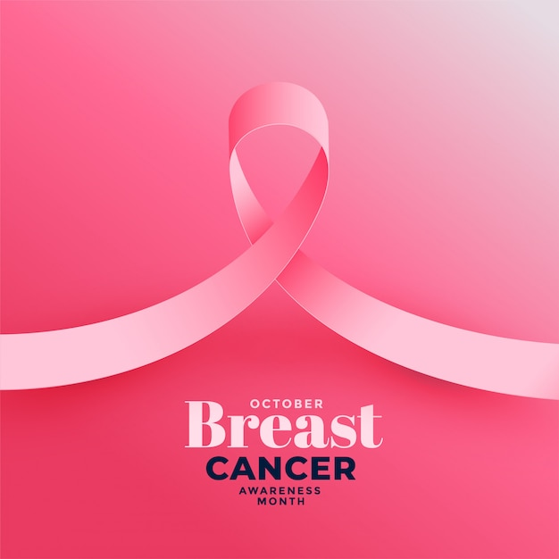 Pink background for breast cancer awareness month Free Vector