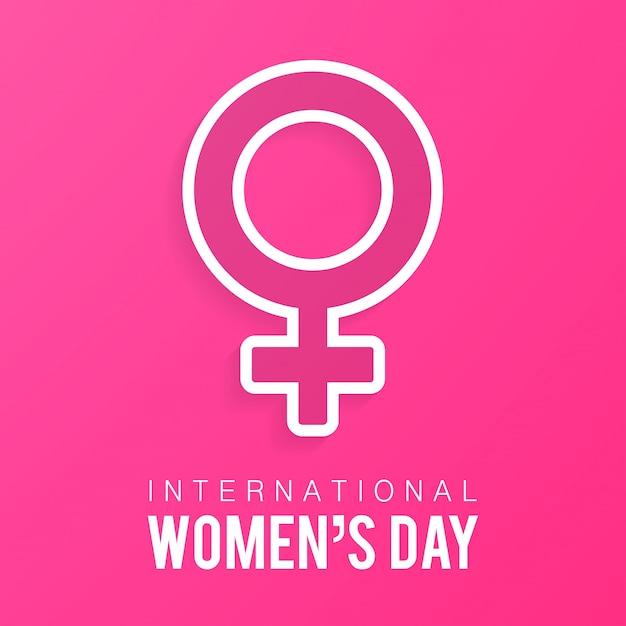 pink background of female gender sign vector | free download