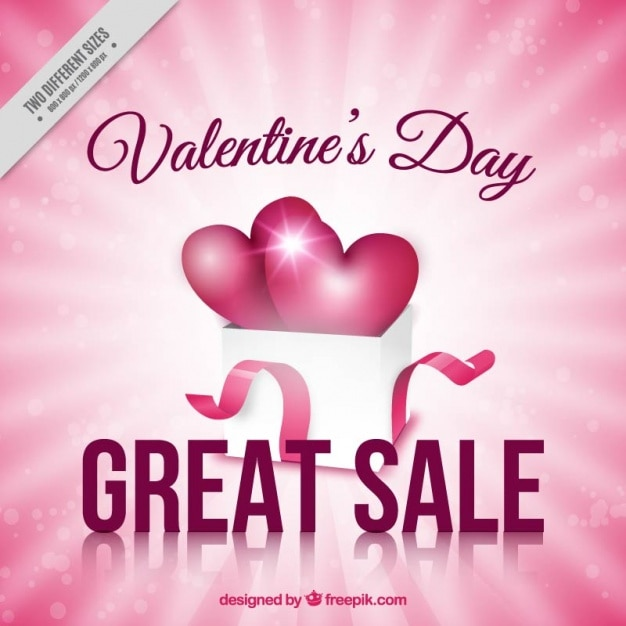 pink background of valentine sale free vector - Valentine Sale
