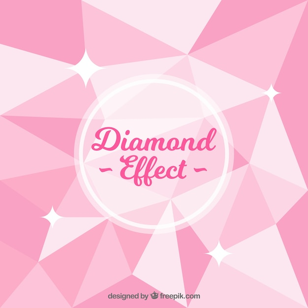 pink background with diamond effect vector free download