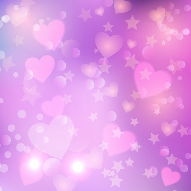 pink background with hearts vector free download