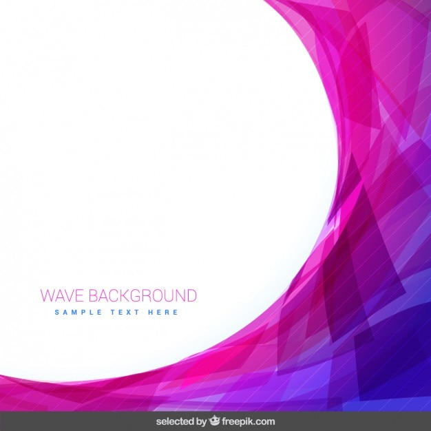 Pink background with wave Free Vector