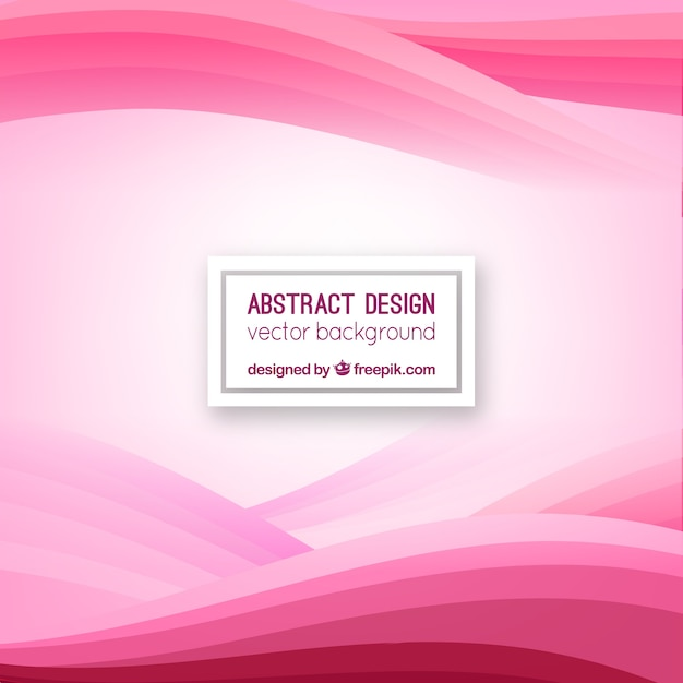Pink background with waves Free Vector