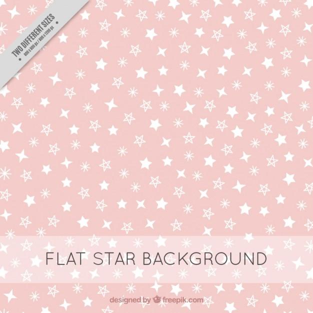 백색 별을 가진 분홍색 배경 무료 벡터