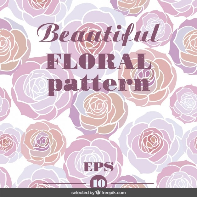 Pink beautifuol floral pattern Free Vector