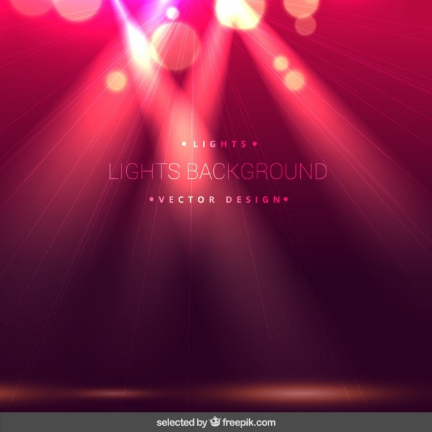 Pink bokeh lighs background Free Vector