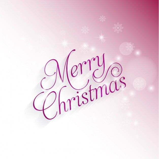 Pink bokeh merry christmas background Free Vector