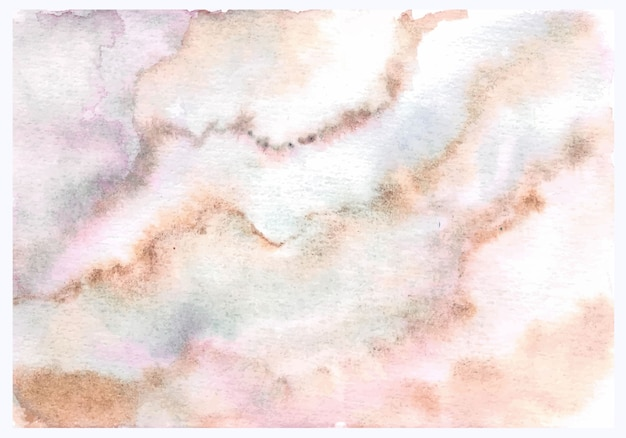 Pink brown abstract texture marble watercolor hand painting Premium Vector