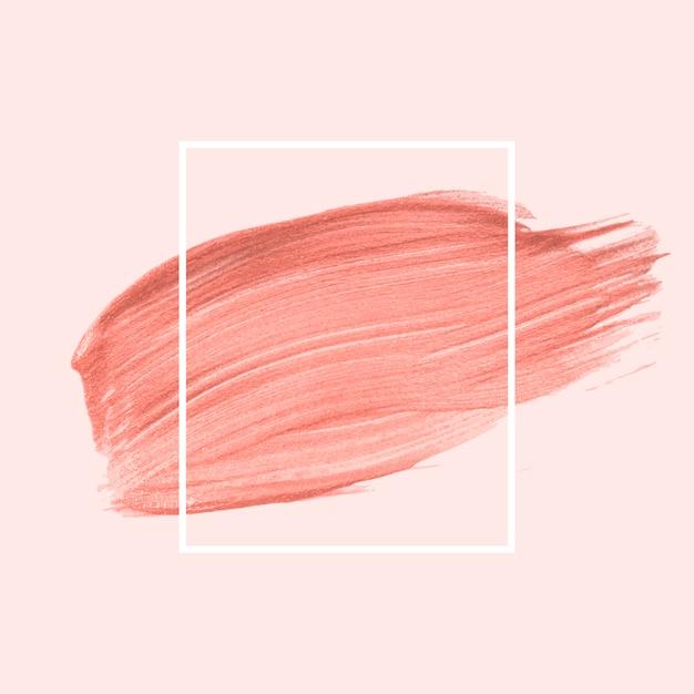 Pink brush stroke Free Vector