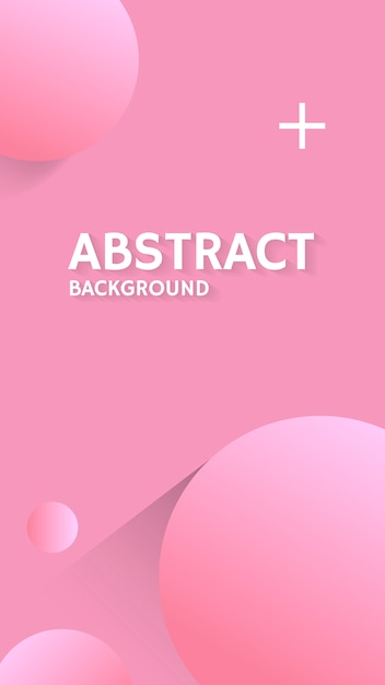 Pink bubble patterned background Free Vector