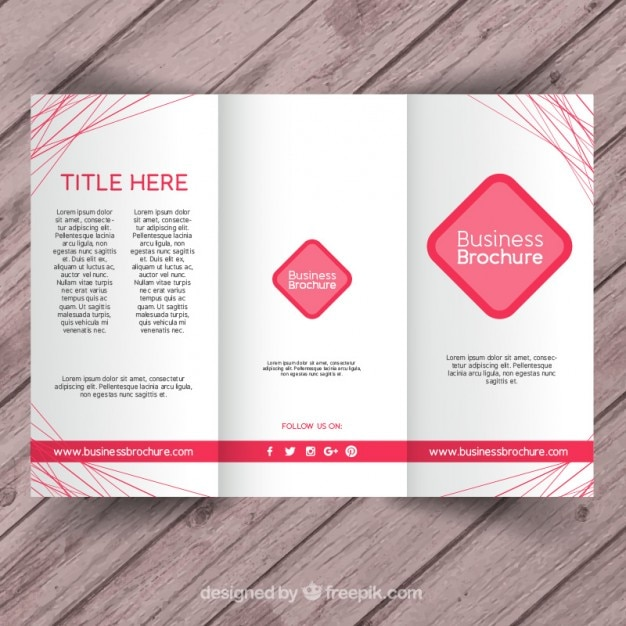 Pink business brochure template vector free download pink business brochure template free vector accmission Images
