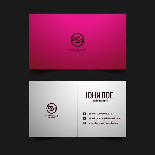 Pink business card vector free download pink business card free vector colourmoves
