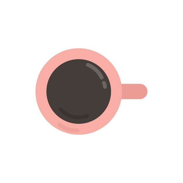 Pink coffee cup graphic illustration Free Vector