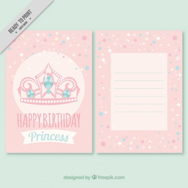 Pink crown birthday invitation vector free download pink crown birthday invitation free vector stopboris Image collections