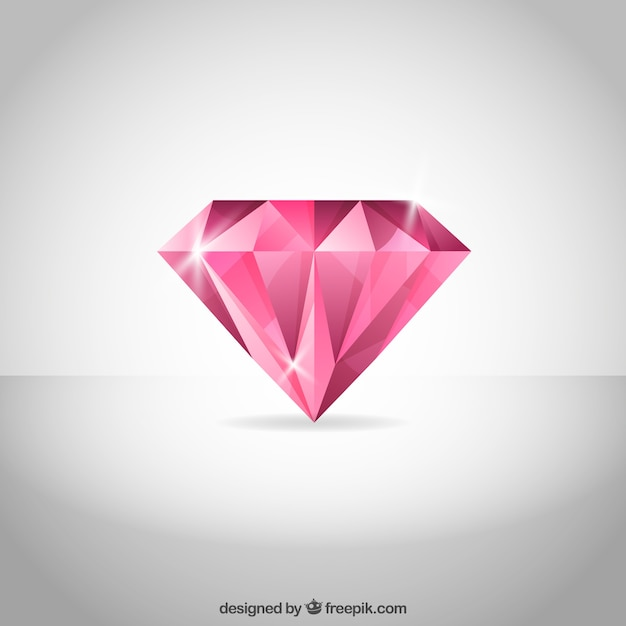 Pink diamond background Free Vector