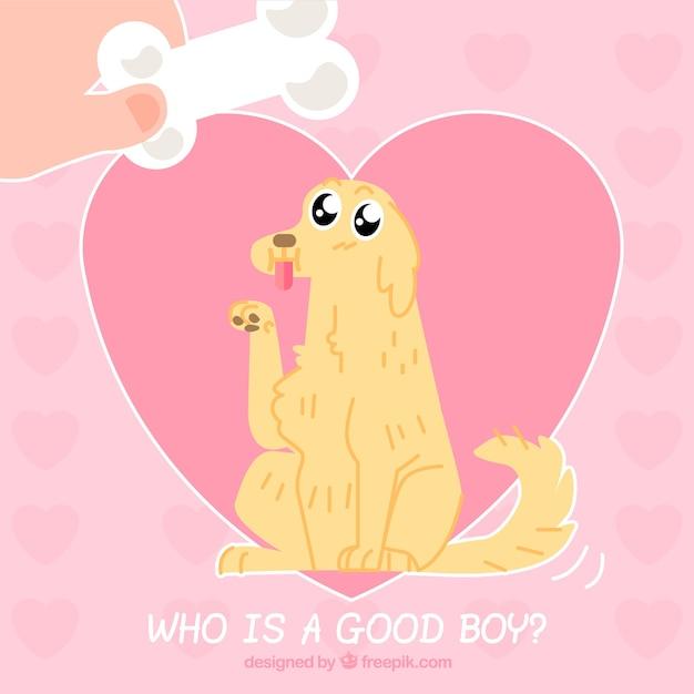 Pink dog background