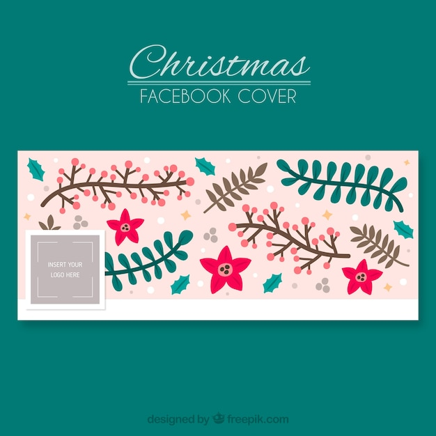 Pink facebook cover in christmas theme vector free download for Holiday themed facebook cover photos