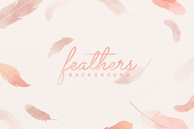Pink feather background Free Vector