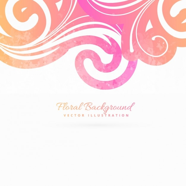 Pink floral background Vector | Free Download