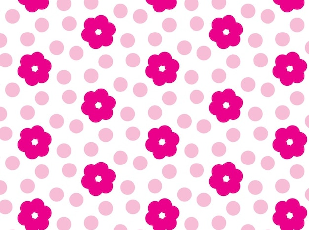 Pink floral flower pattern vector