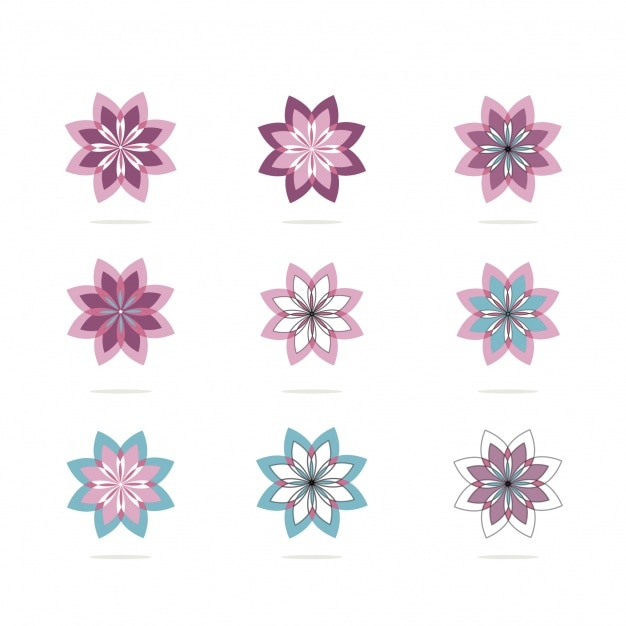 Pink floral logo collection