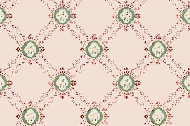 Розовый цветочный узор фона Бесплатные векторы