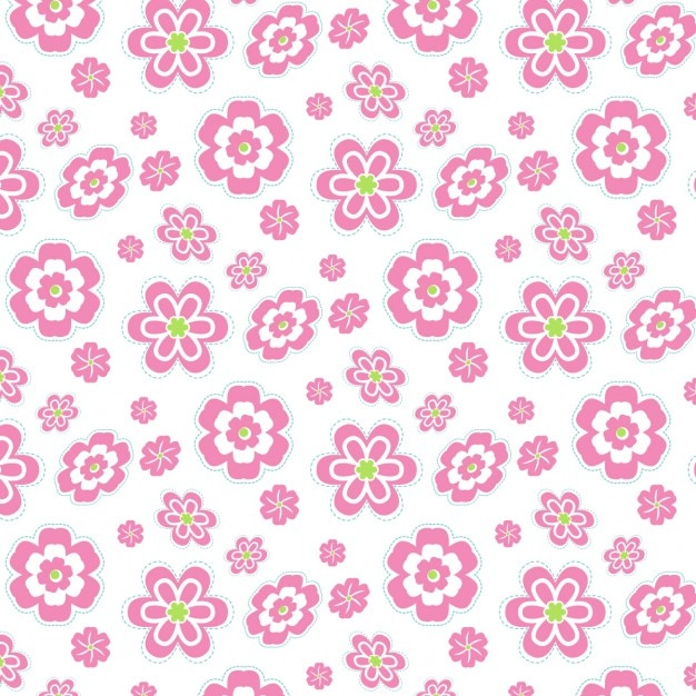 pink floral pattern vector free download