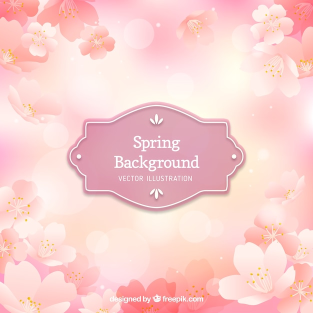 Pink floral spring background Vector | Free Download