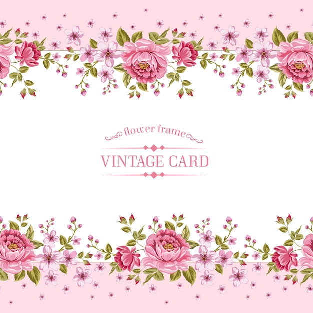 Pink Floral Template Vector Premium Download