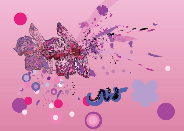 Pink Flower Graphics