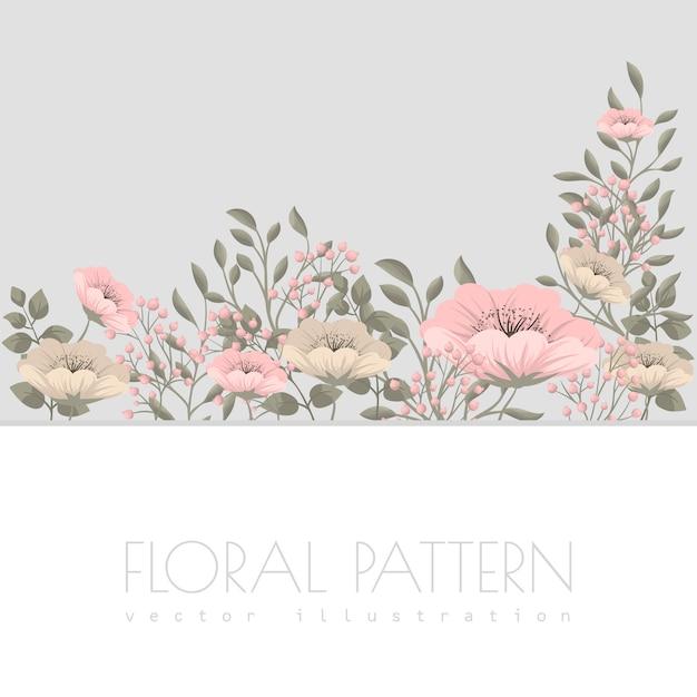 Pink flower illustration Free Vector