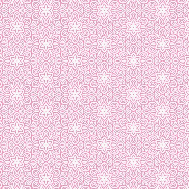 pink flower pattern background vector free download