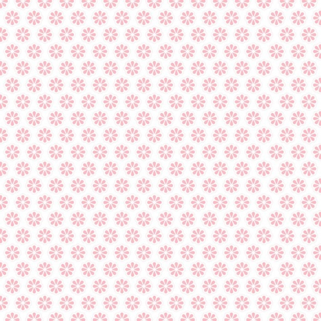 Pink flower pattern Free Vector