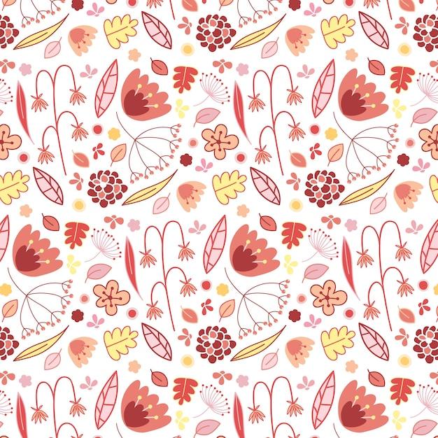 pink flower pattern vector free download