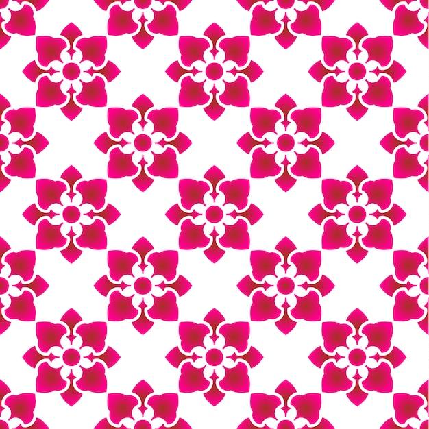 Pink flower pattern Premium Vector