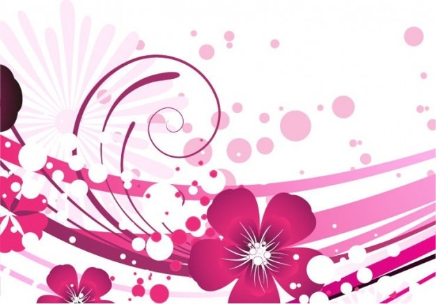 Pink flower vector background Vector | Free Download