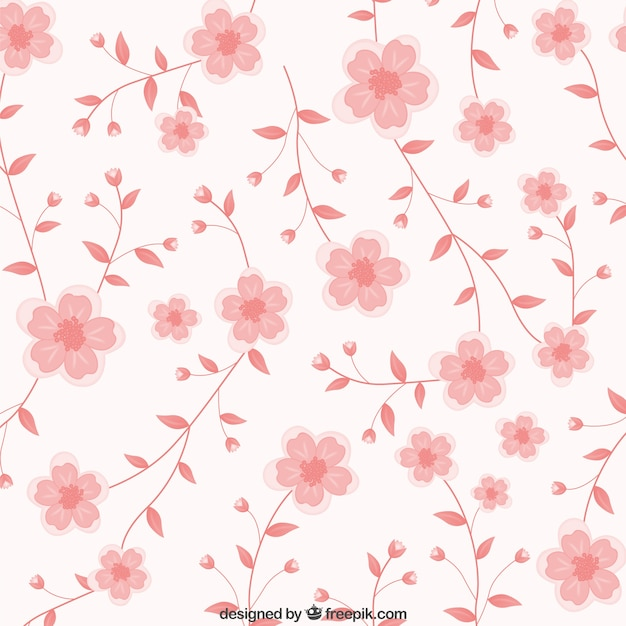 Pink flowers background vector free download pink flowers background free vector mightylinksfo
