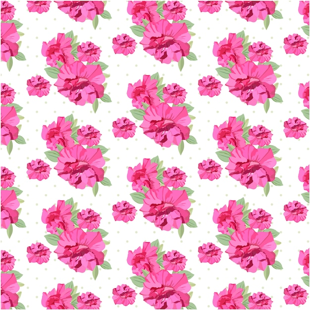 Pink flowers patter background