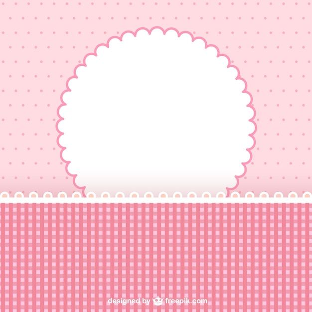 Pink frame for scrapbook Vector | Free Download
